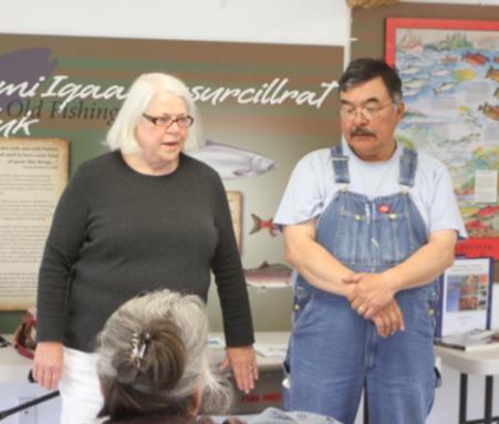 Marpaq Morris, Heritage Preservation Depart- ment Manager and Oscar Alexie of Bethel